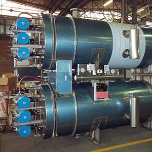 Scambiatori di calore fumi-acqua per fumi di 4 forni crematori