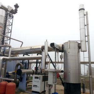 Scambiatori di calore fumi-acqua per cogeneratore da 1 MW alimentato a biogas