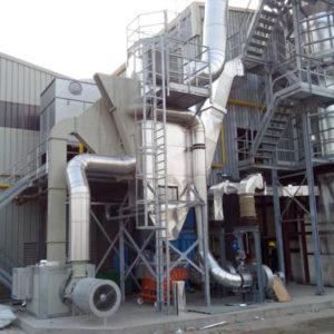 Scambiatori di calore fumi-aria per fumi di forno da vetro
